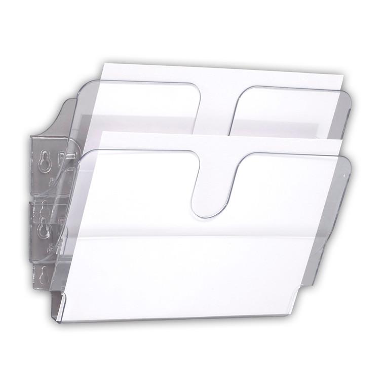 Avisholdere vandret til væg -  IDEAL FlexiPlus i klar plast - 2 stk