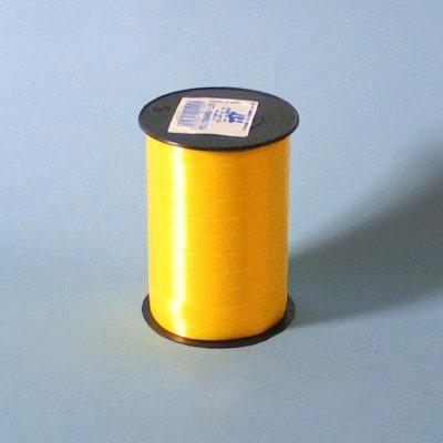 Bånd - i glat gul 10 mm x 250 meter, 5 ruller i en pakke