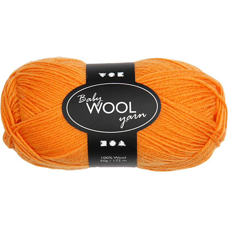 Babygarn, L: 172 m, orange, NM 14/4, 50g