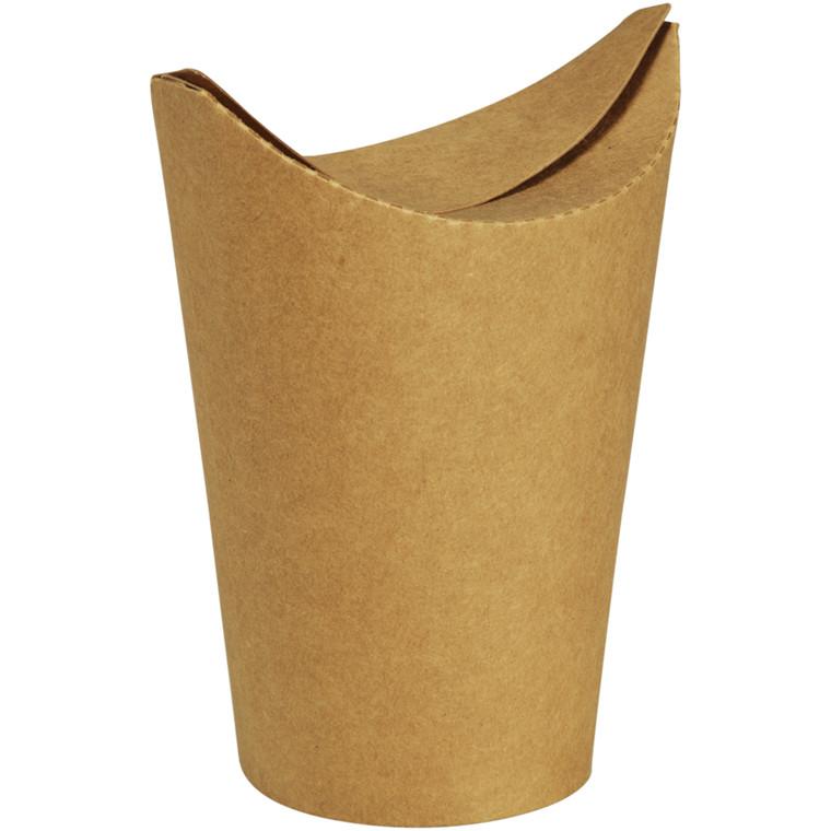 Bæger, Abena Gastro-Line, 137mm, Ø90mm, brun, PLA/pap, 16/12 oz, med foldelåg