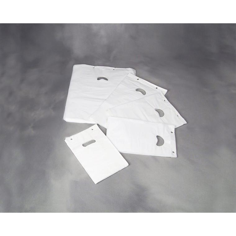 Bærepose HDPE blok P5 i hvid - 370 x 420 mm 18 my 2000 stk