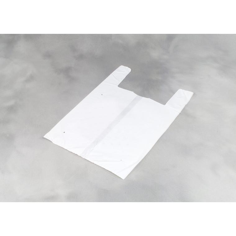 Bærepose i hvid HDPE  undetrøje - 280 x 85 x 550 mm