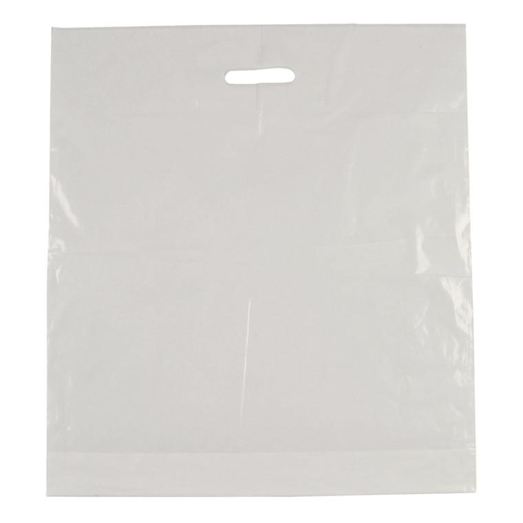 Bærepose, LDPE, hvid, 45 my, 50x55 cm, 28 l