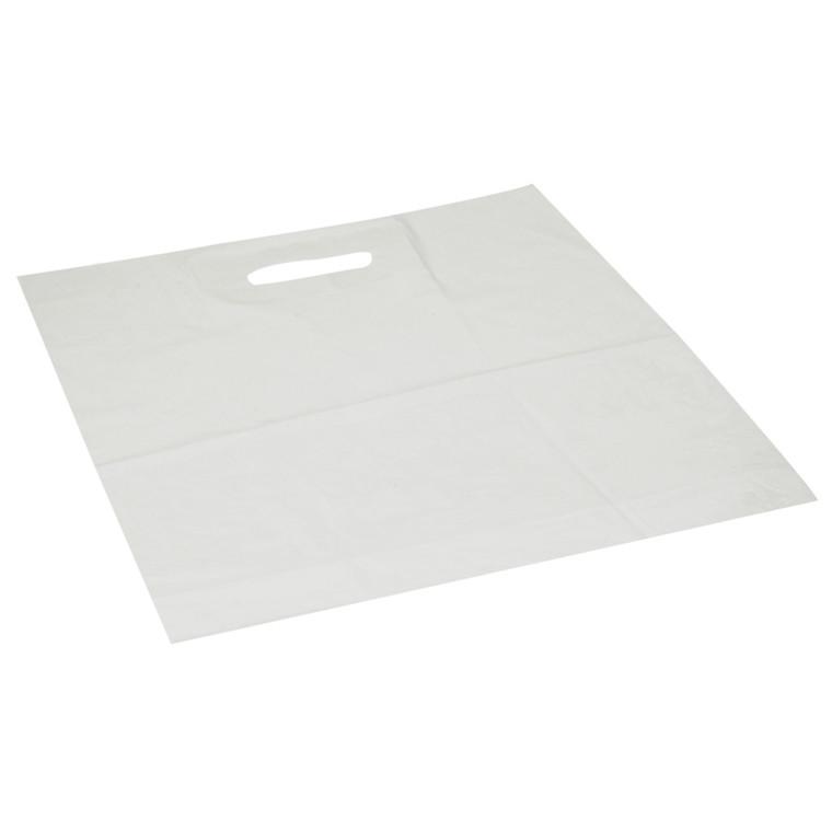 Bærepose, LDPE virgin, hvid, 40my, 40x45 cm, 40x45cm, 15L