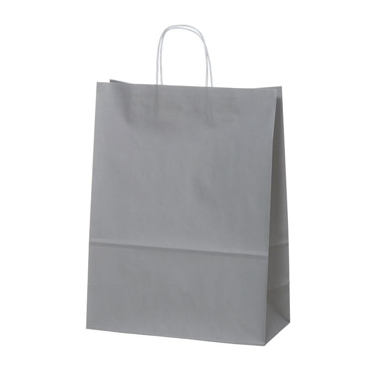 Bærepose medium grå 90g 220x100x330mm 100st