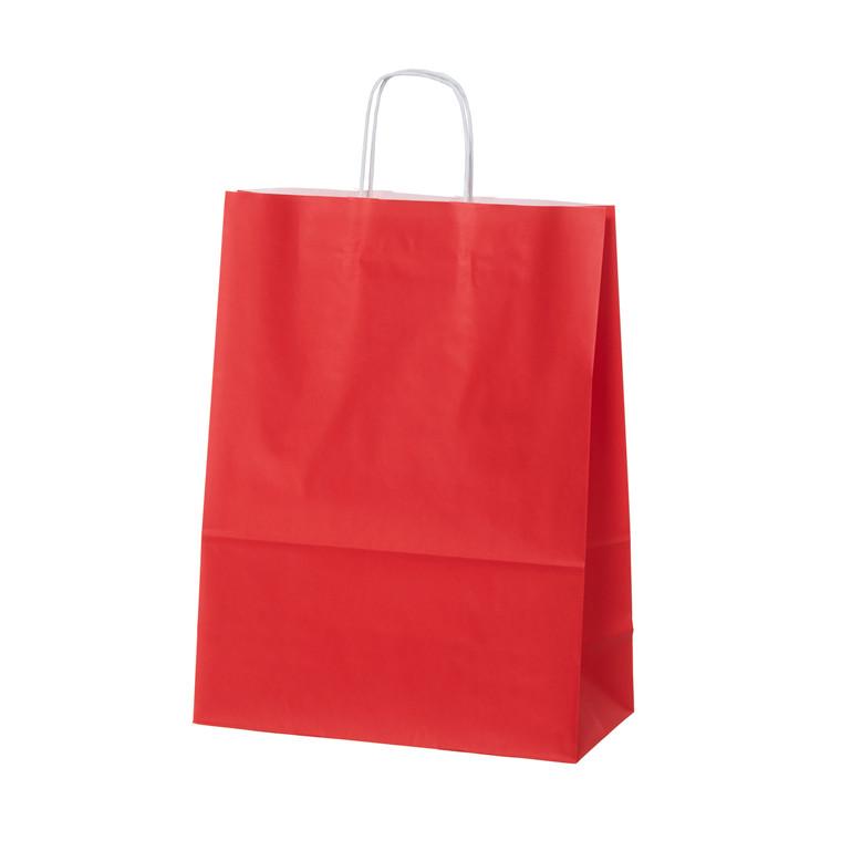 Bærepose medium rød 90g 220x100x330mm 100st