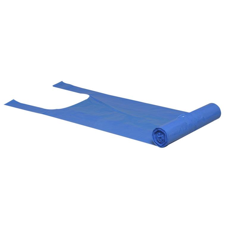 Bærepose, Poly-Line, LDPE, blå, 20 my, 37x60 cm, 15L, 30stk/rl.