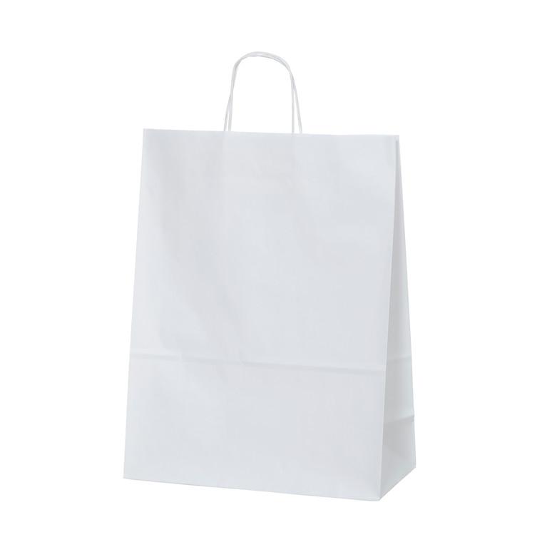 Bærepose small hvid 90g 180x80x215mm 100stk