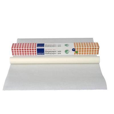 Bagepapir, Abena DK, Svanemærket, FSC MIX, Bleget greaseproof papir, 38 cm x 42 cm, 40g/m2, 18ark/pk