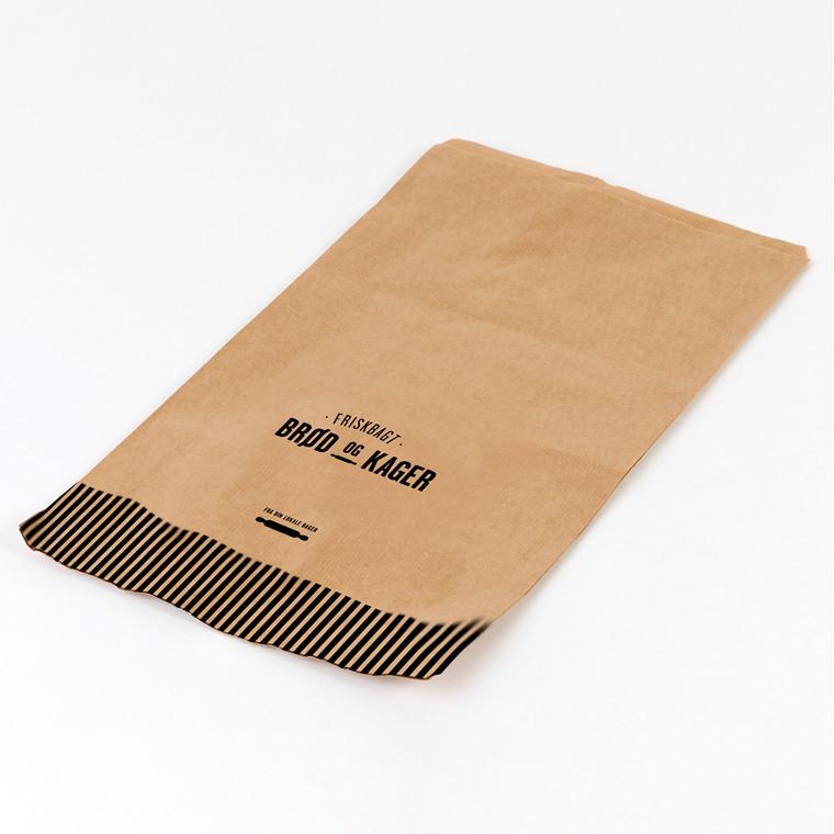 Bagerpose 2,5kg ribbet brun Friskbagt brød og kager 1000st