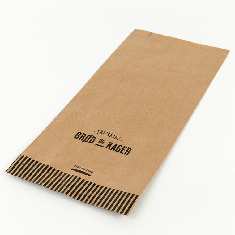 Bagerpose med sidefals gigant 10 Friskbagt brød og kager - 250 stk
