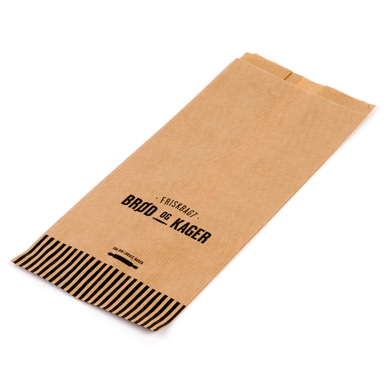 Bagerpose med sidefals lille Friskbagt brød og kager - 1000 stk