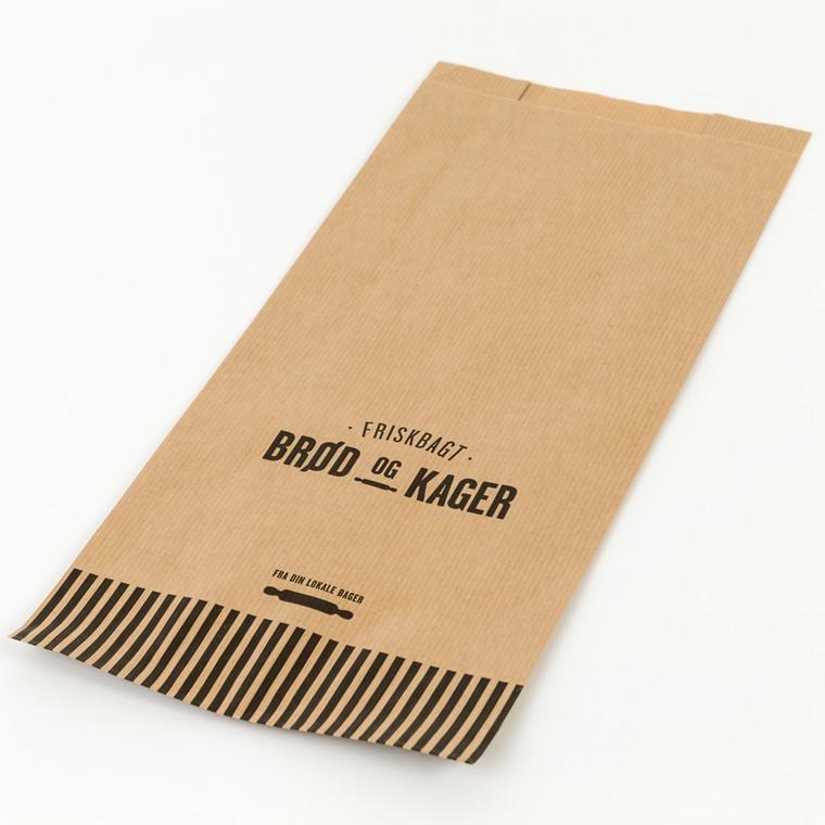 Bagerpose med sidefals mellem Friskbagt brød og kager - 500 stk