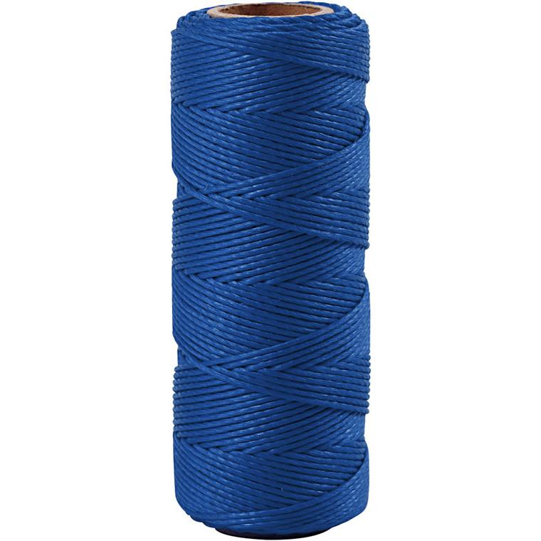 Bambussnor, tykkelse 1 mm, blå, 65m
