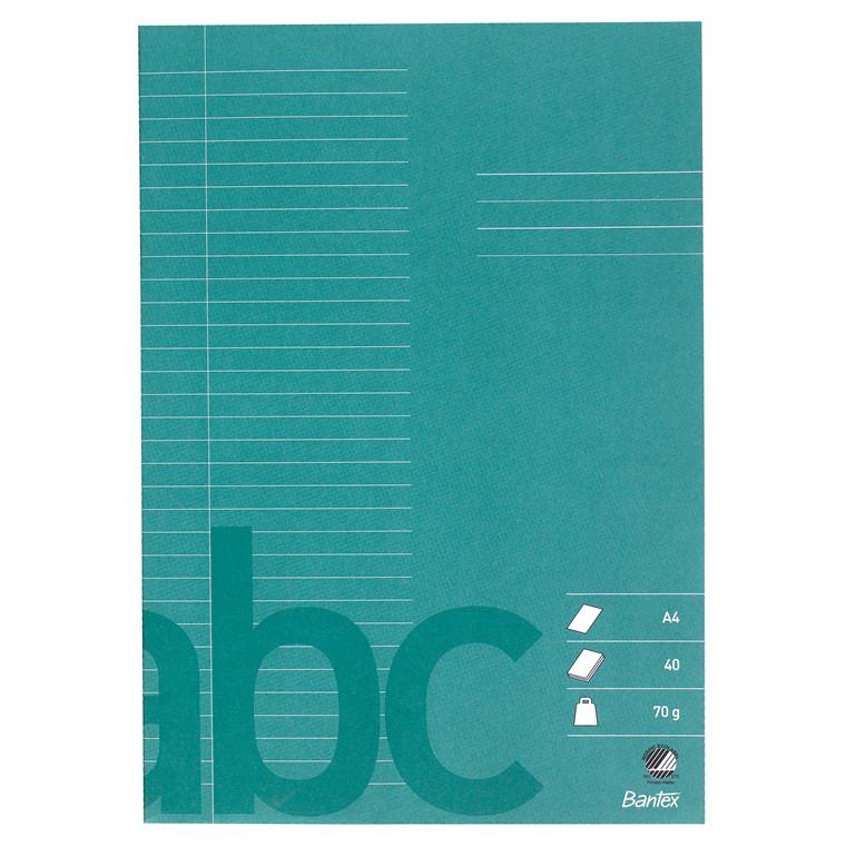 Bantex A4 Skolehæfte - Mørkegrøn Linjeret med 32 linjer - 40 sider