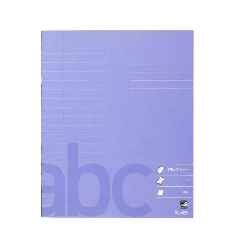 Bantex Skolehæfte Linjeret - Lyslilla 17 x 21 cm 18 linjer - 32 sider