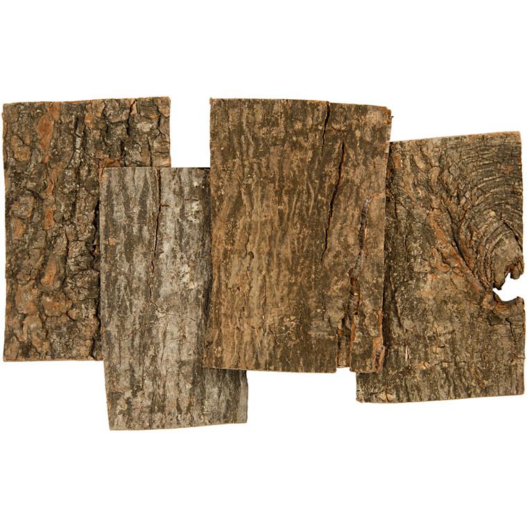 Barkskiver, størrelse 9,5 x 6,5 cm, tykkelse 1 - 4 mm | 340 gram