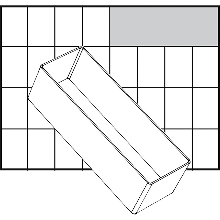 Basisindsats, str. 157x55 mm, Model A8-2, 1 stk.
