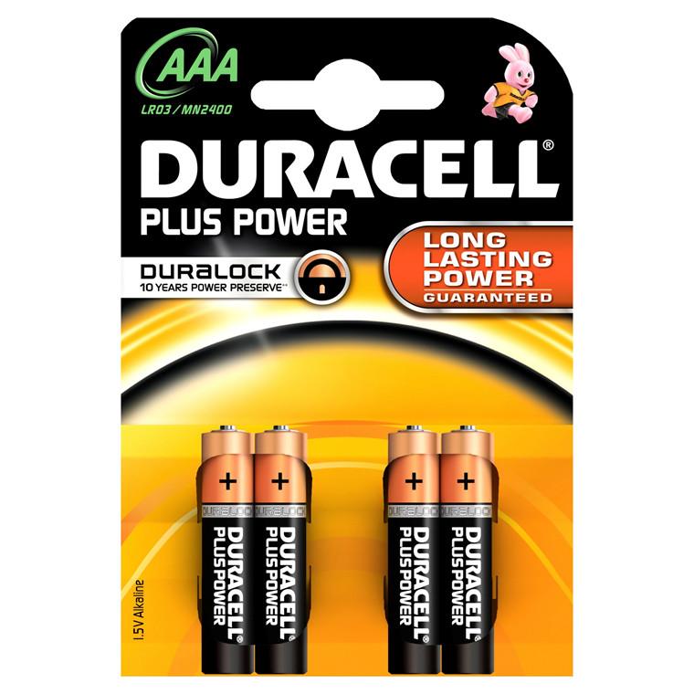 Duracell Batteri AAA Plus Power - LR03 MN2400