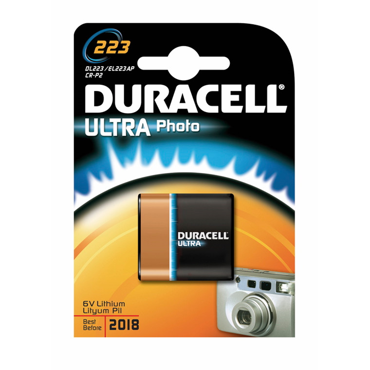Batteri Duracell Ultra Photo 223 1stk/pak