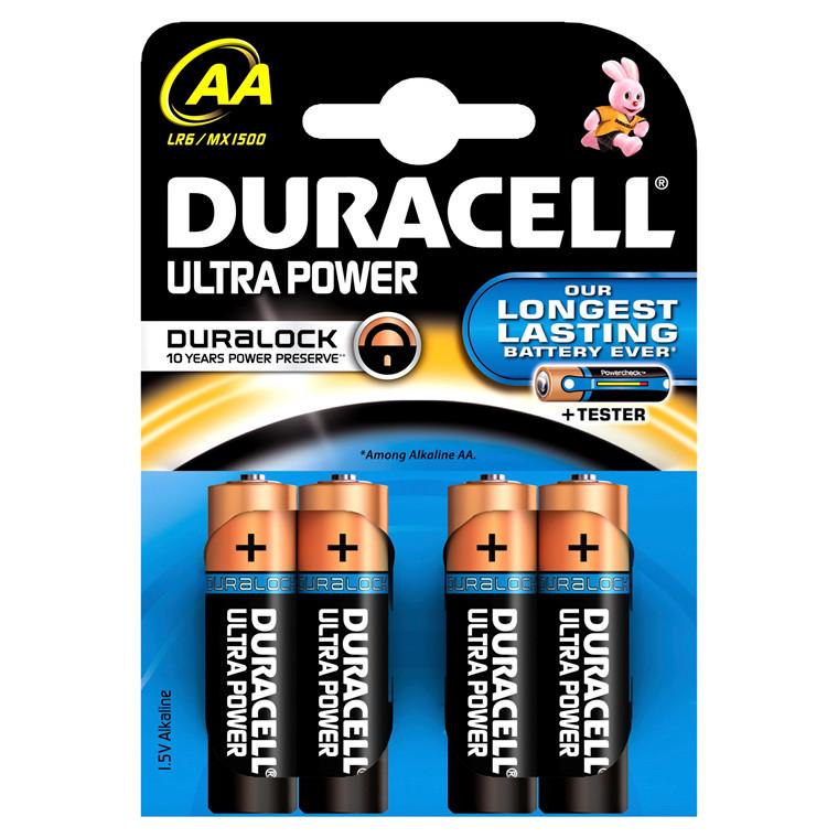 Batteri Duracell Ultra Power- AA 4 stk pr. pak