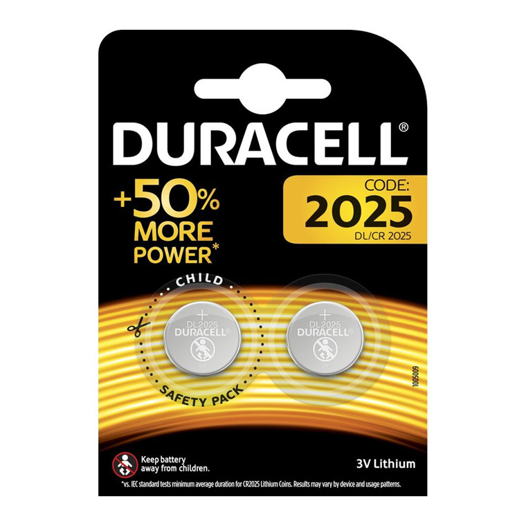 Batteri litium DuracellElectronics2025 knapcelle  3V 2-pak