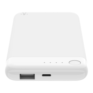 Belkin BOOST CHARGE Power Bank 5K w/Lightning + USB, White