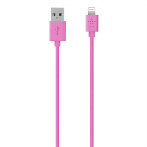 Belkin  Lightning Sync & Charge Cable 1,2mpink
