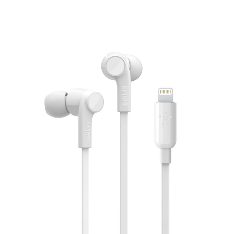 Belkin ROCKSTAR Headphones w/Lightning Connector, White