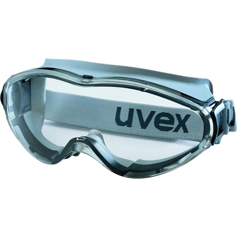 Beskyttelsesbrille, lukket med elastikbånd, PVC-fri, sort, one size
