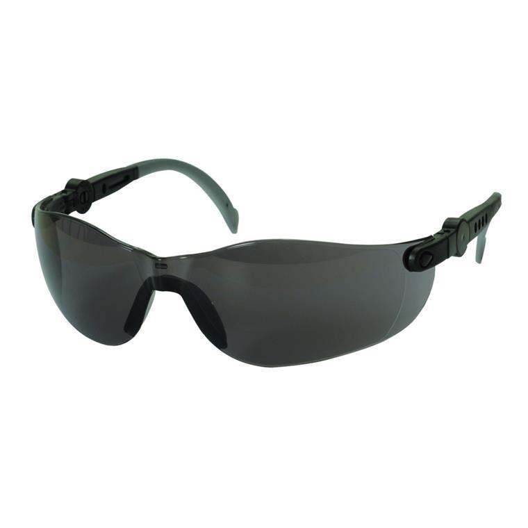 Beskyttelsesbrille, THOR Vision Clear, justerbare stænger, mørk, one size