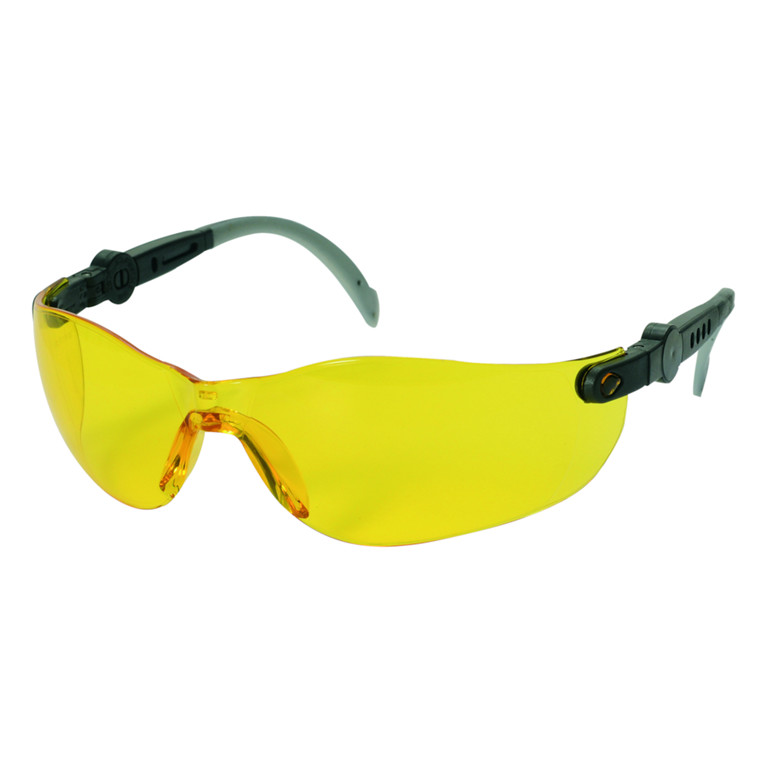 Beskyttelsesbrille, THOR Vision Yellow, justerbare stænger, gul, one size