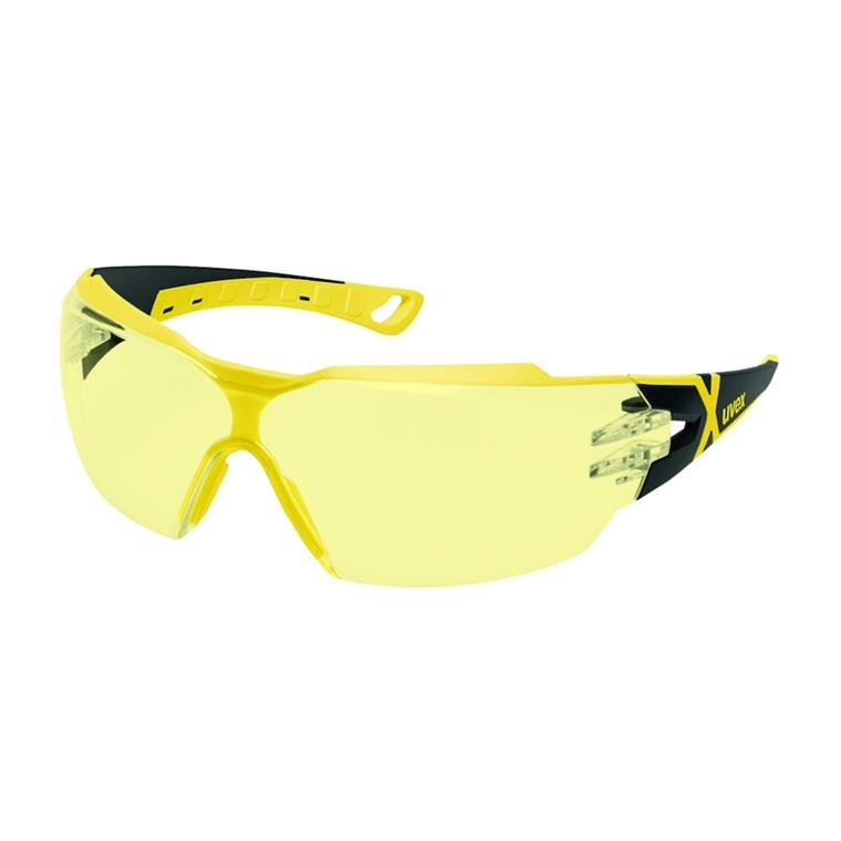 Beskyttelsesbrille, Uvex Pheos cx2, gul, one size