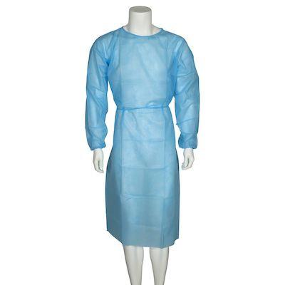 Beskyttelseskittel, Abena, med elastik, usteril, blå, large