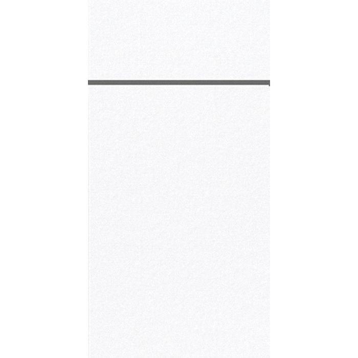 Bestikserviet, Duniletto, 1/8 fold, hvid, 40x48 cm