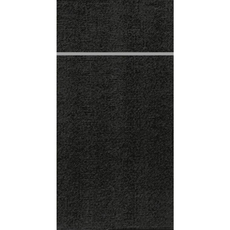 Bestikserviet, Duniletto, 1/8 fold, sort, 40x48 cm