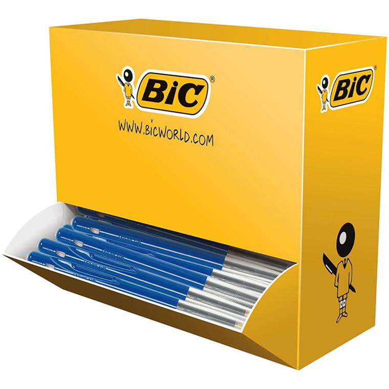 BIC Clic M10 Kuglepen blå  - Valuepack i karton dispenser