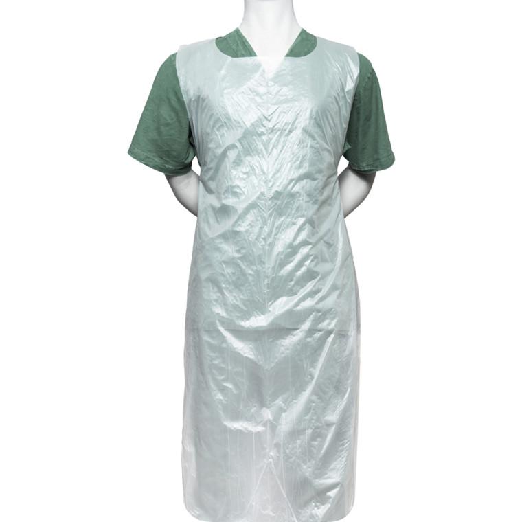 Bionedbrydelig forklæde, Finess Hygiene, 125x80cm, hvid, bioplast, på rulle engangs