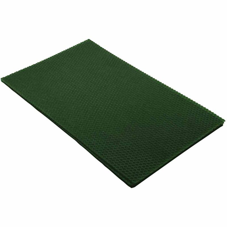 Bivoksplade 20 x 33 cm tykkelse 2 mm   Grøn