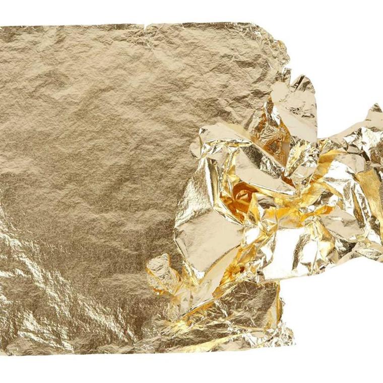 Bladguld ark 16 x 16 cm slagmetal - 25 ark