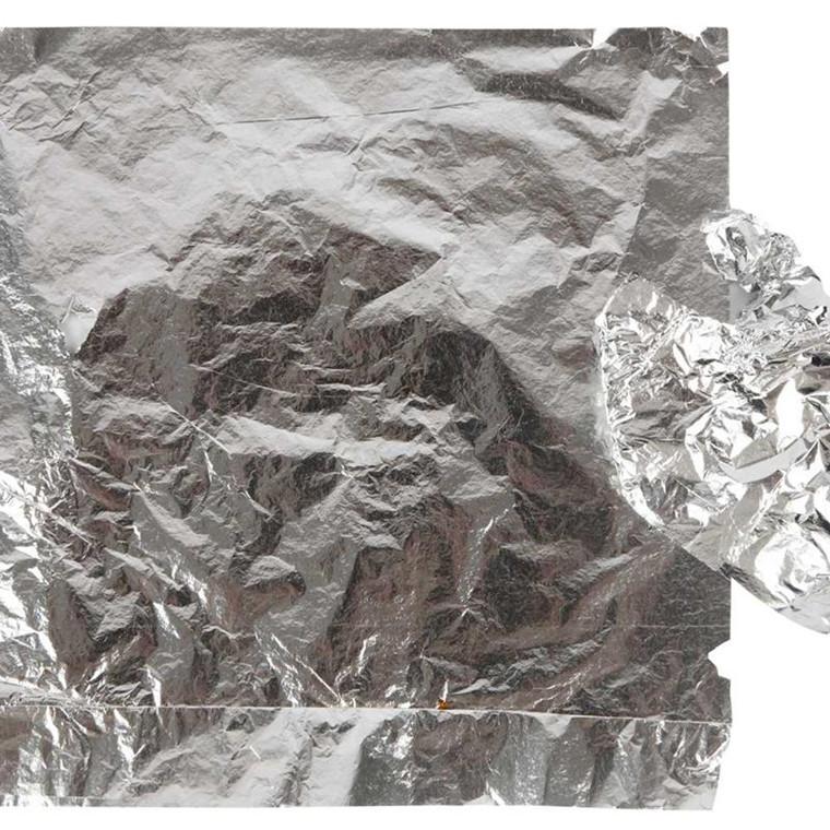 Bladsølv ark 16 x 16 cm - 25 ark