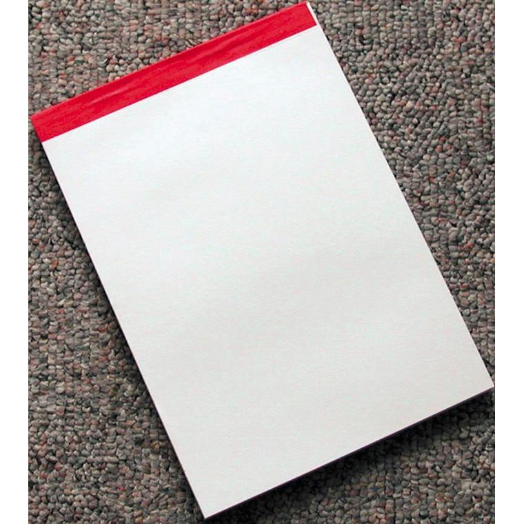 Blank telefonblok 210 x 148 mm - Med perforeret ulinjeret ark - 100 ark