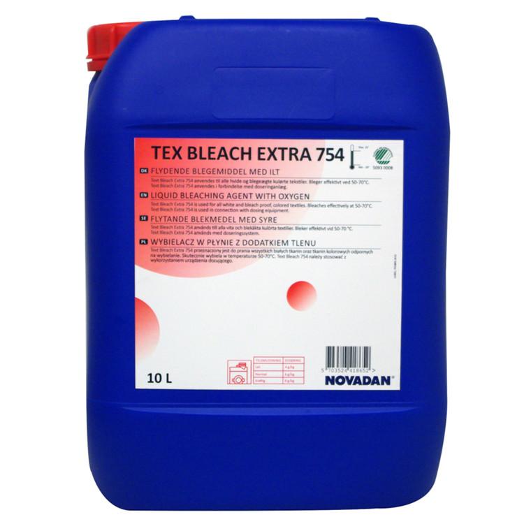 Blegemiddel, Novadan Tex Bleach Extra 355, flydende, uden duft, til automatisk dosering, 10 l