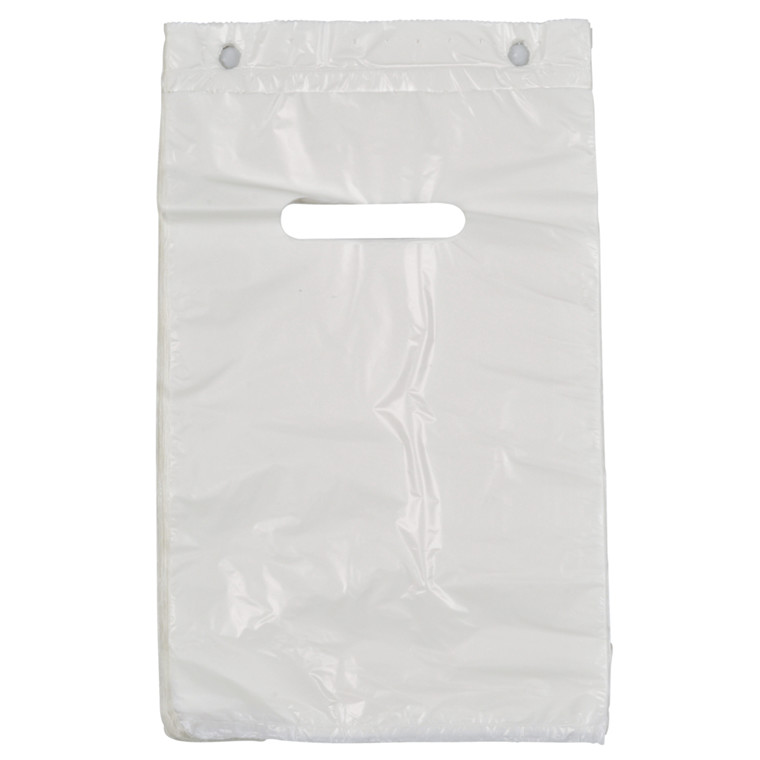 Blokbærepose, HDPE, hvid, 18 my, 18,50x28 cm, 2,4L,