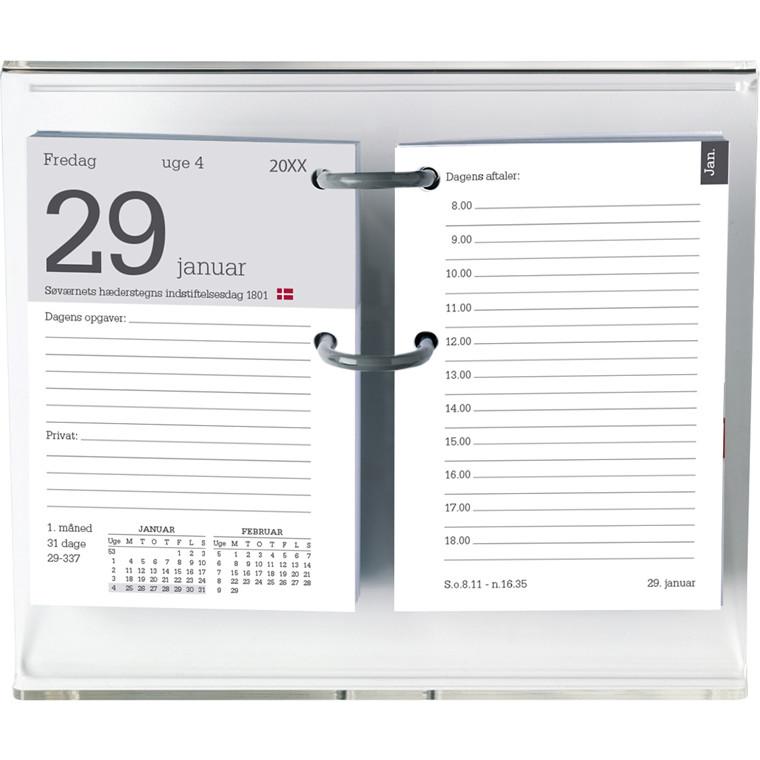 Blokkalender refill m/huller 8x12cm 20 1400 00