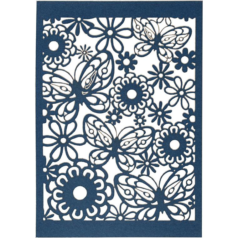 Blondekarton, blå, ark 10,5x15 cm, 200 g, 10stk.