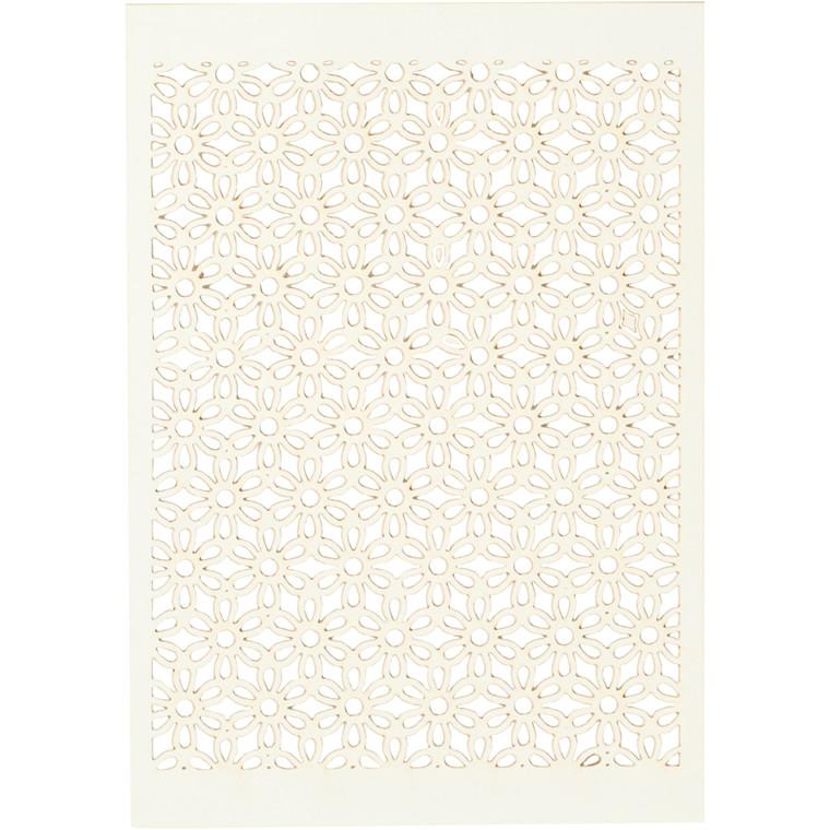 Blondekarton, råhvid, ark 10,5x15 cm, 200 g, 10stk.