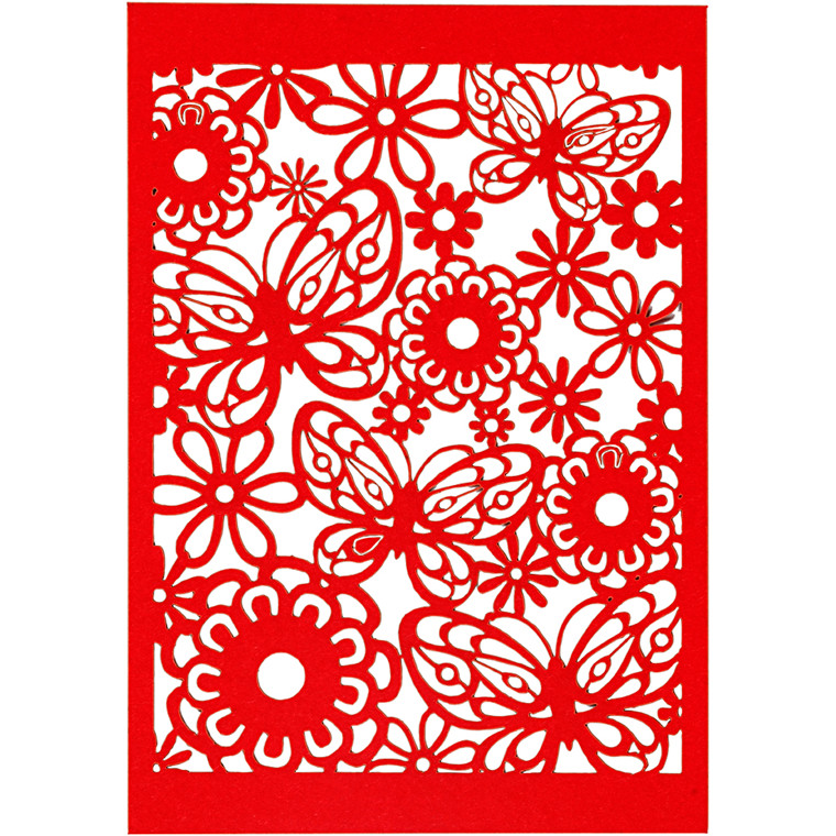 Blondekarton, rød, ark 10,5x15 cm, 200 g, 10stk.