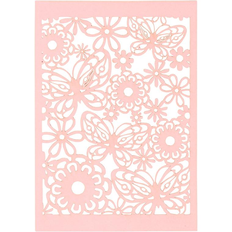 Blondekarton, rosa, ark 10,5x15 cm, 200 g, 10stk.