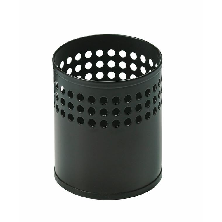 Blyantsbæger sort mat metal - RM 023  9,7cm x Ø 8,5 cm